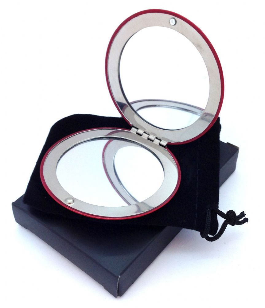 Round Double Handbag Mirror  5 Colours Available